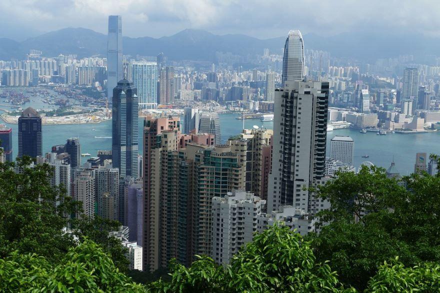Панорама город Гонконг