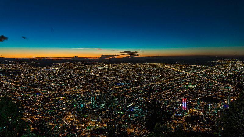 Панорама города Богота