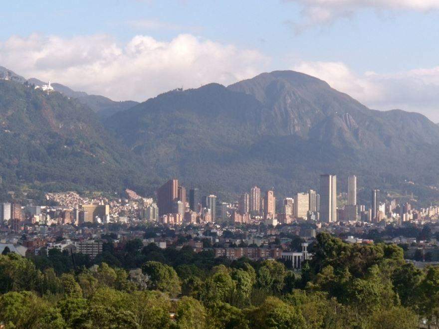 Вид на город Богота