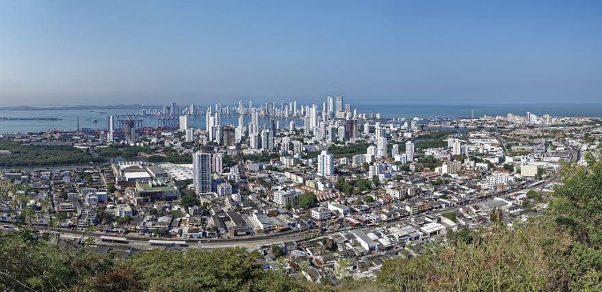 Панорама города Картахена Колумбия