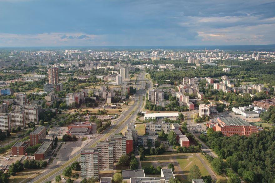 Панорама город Вильнюс Литва