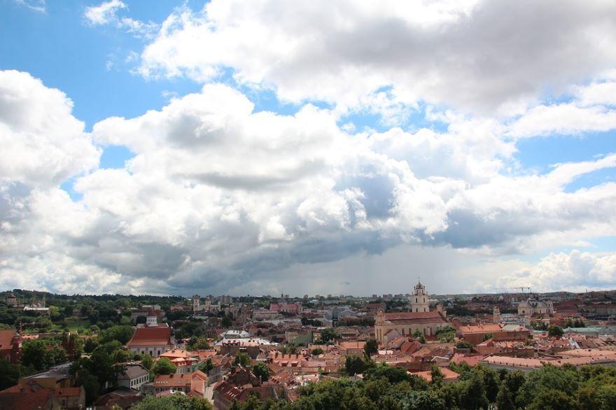 Панорама города Вильнюс Литва