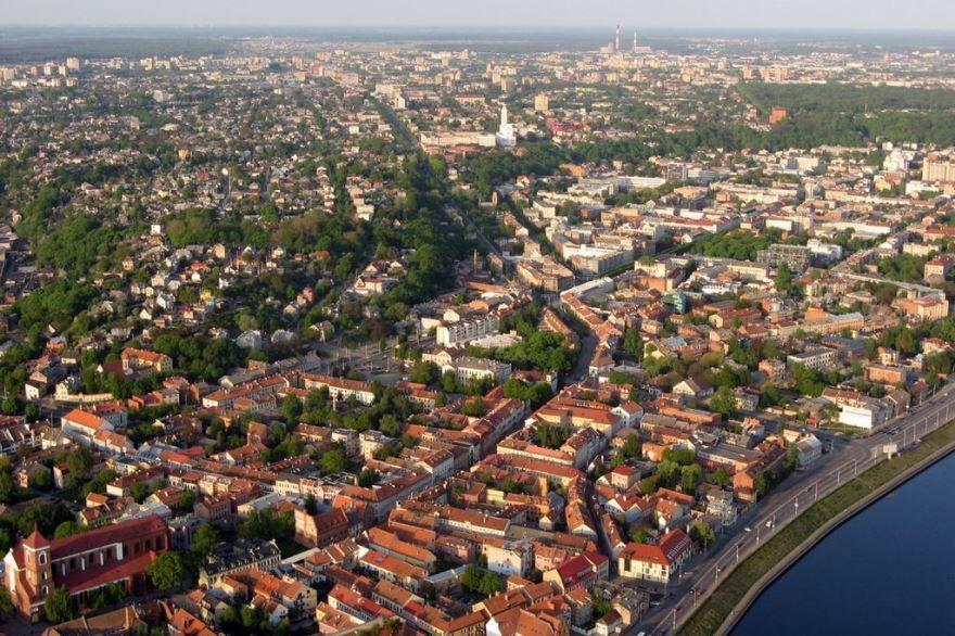 Панорама города Каунас Литва