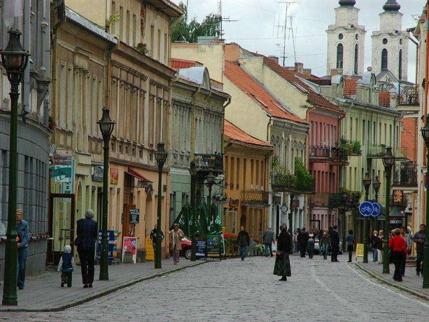 Улица города Каунас Литва