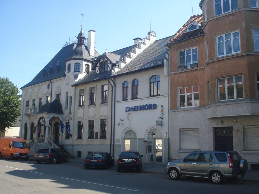 Улица города Клайпеда Литва