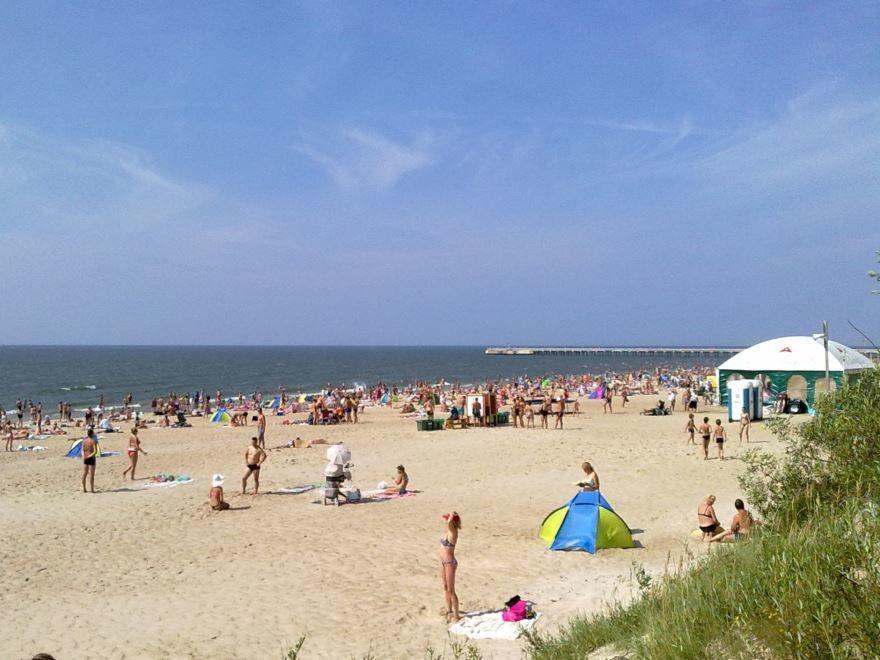 Пляж города Паланга Литва