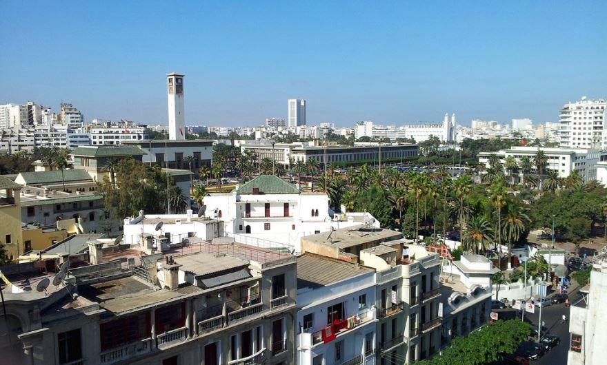 Панорама города Касабланка Марокко