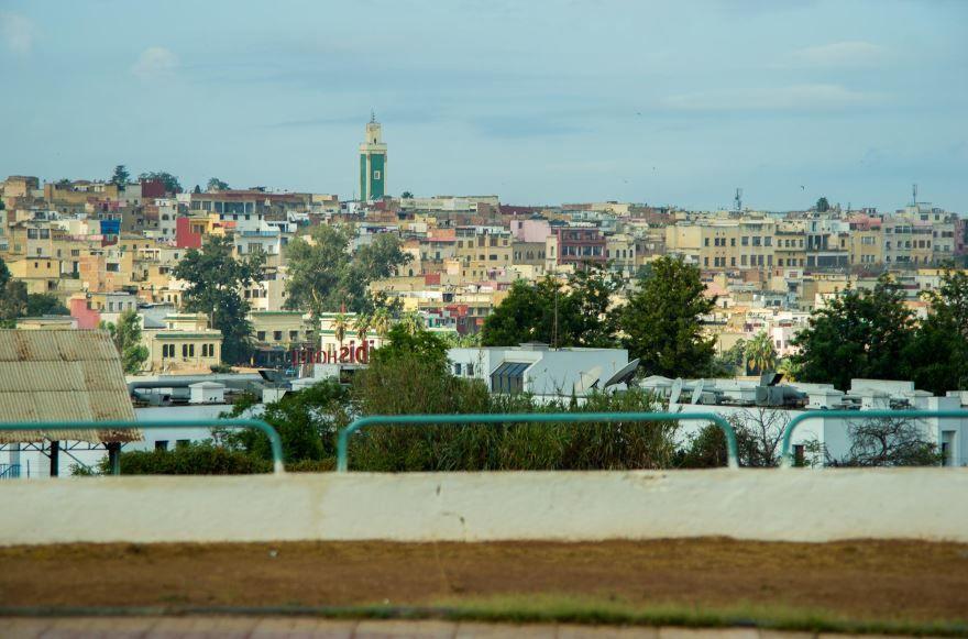 Панорама города Мекнес Марокко