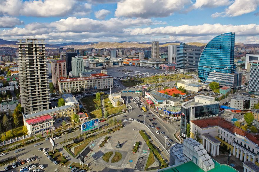 Вид на город Улан-Батор