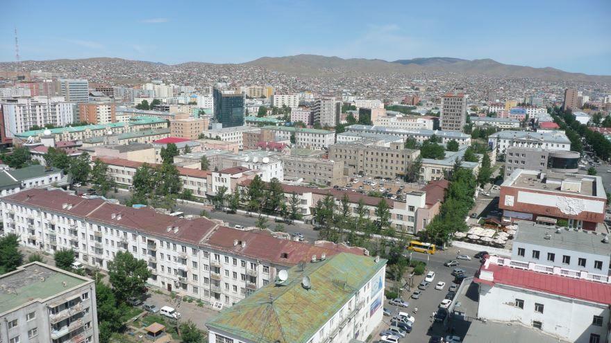 Панорама города Улан-Батор Монголия