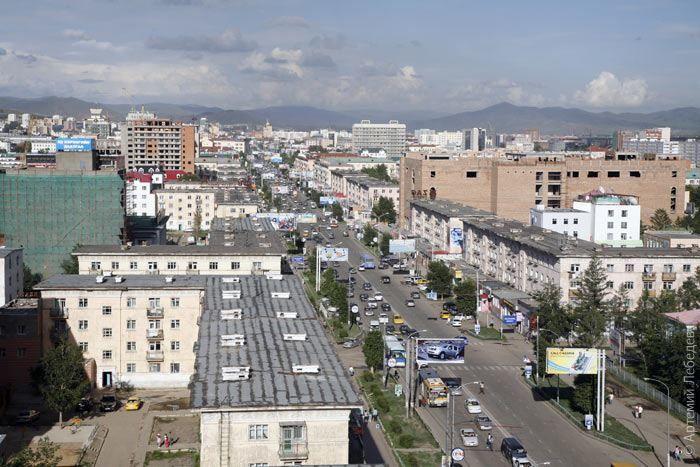 Улица города Улан-Батор Монголия