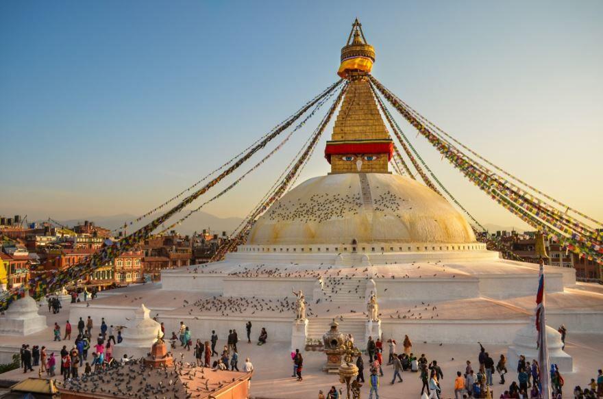 Ступа Боднатх города Катманду Непал