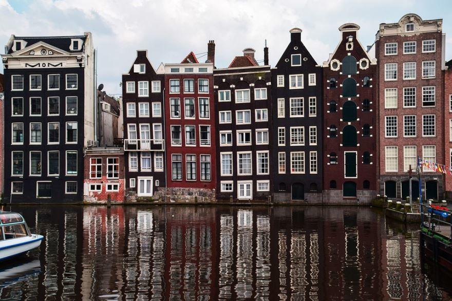 Вид на город Амстердам