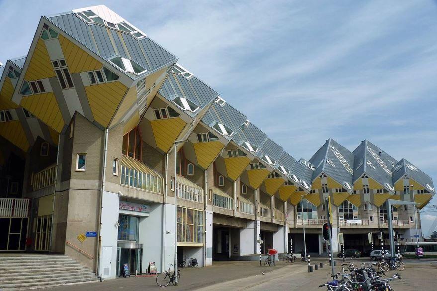 Кубические дома город Роттердам