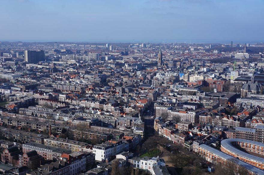 Панорама города Гаага Нидерланды