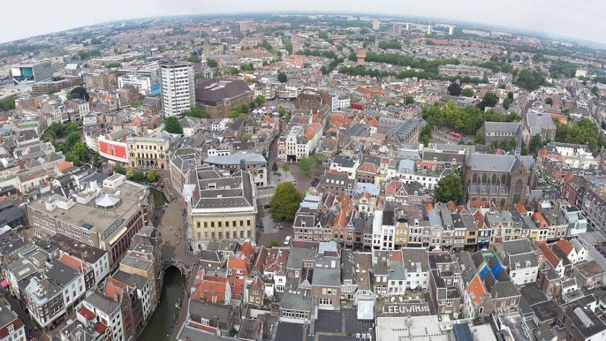Панорама город Утрехт