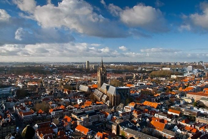 Вид на город Утрехт