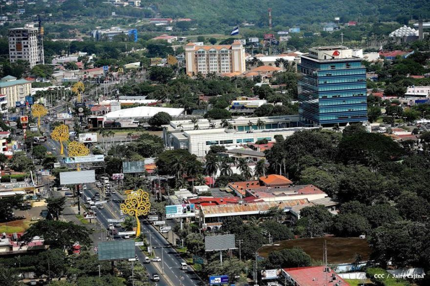 Вид на город Манагуа