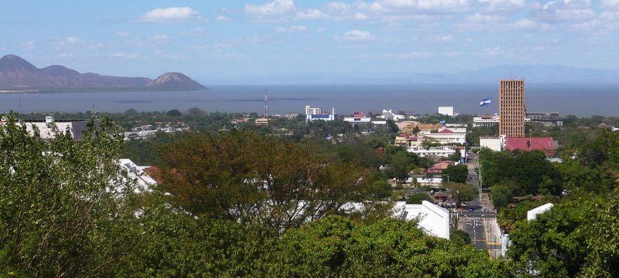 Панорама города Манагуа Никарагуа