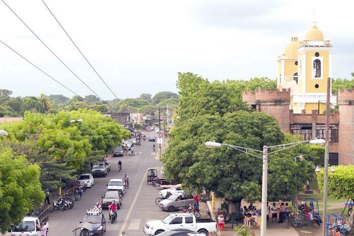 Улица города Чинандера Никарагуа