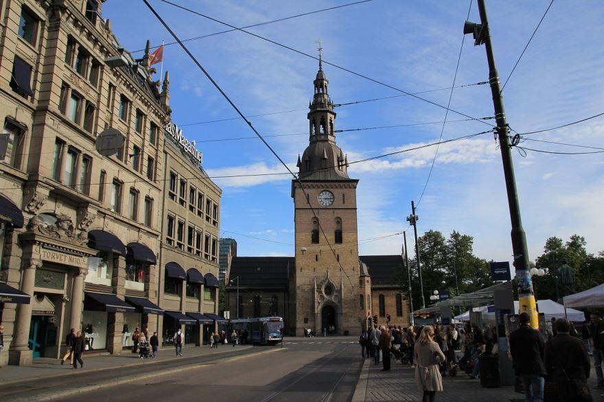 Кафедральный собор города Осло Норвегия