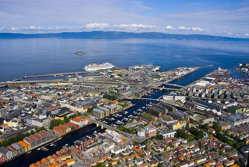 Панорама города Тронхейм Норвегия