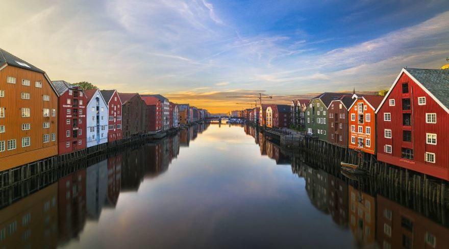 Фото города Тронхейм Норвегия