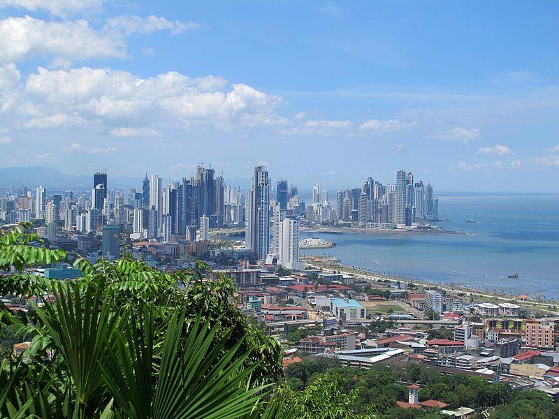Вид на город Панама