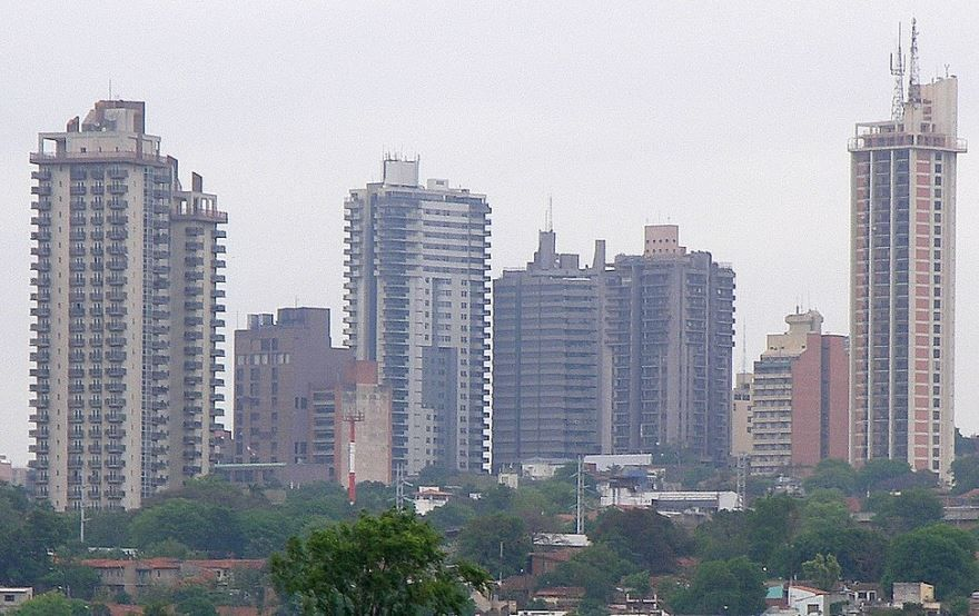 Вид на город Асунсьон
