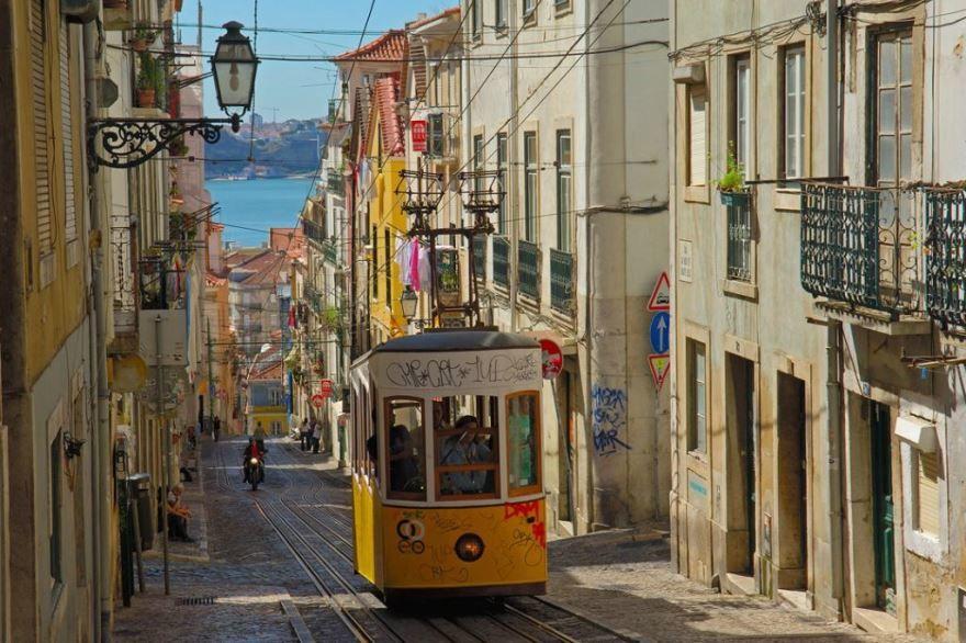 Улица город Лиссабон