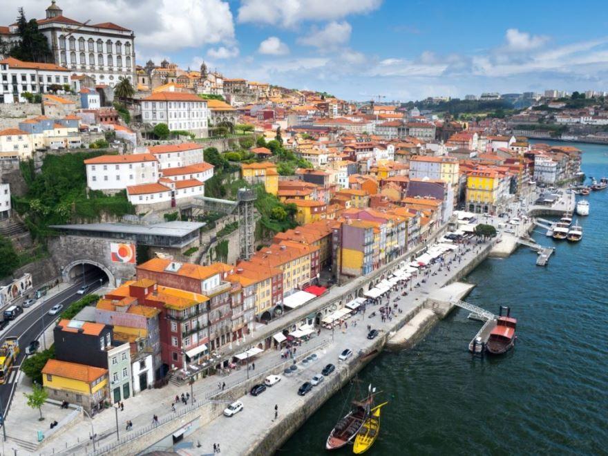 Панорама города Авейру Португалия