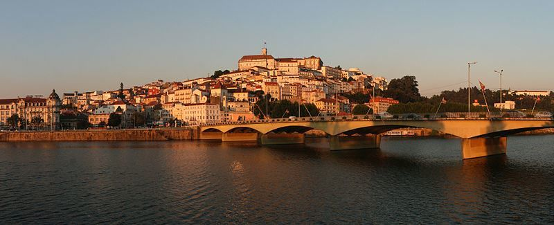 Панорама города Коимбра Португалия