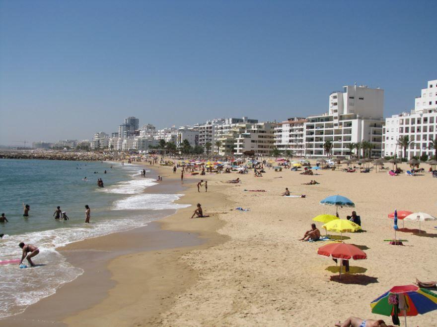 Пляж город Алгарве