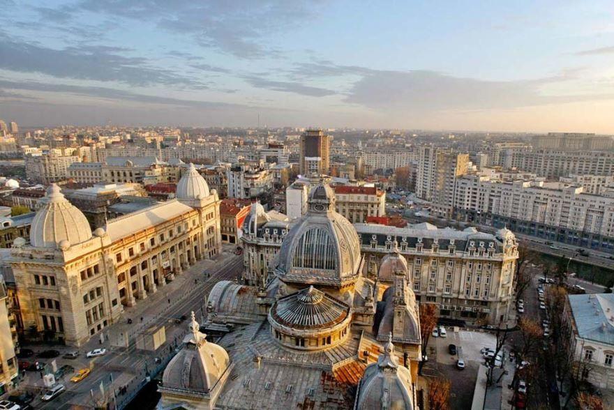 Панорама город Бухарест