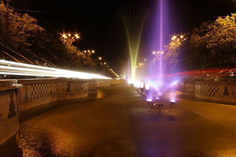 Ночное фото город Бухарест