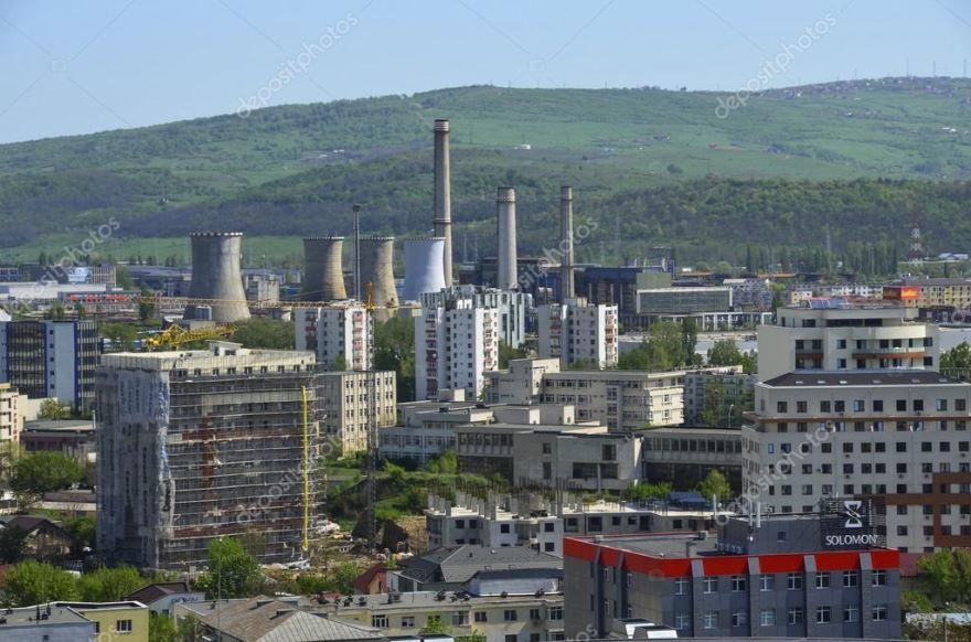 Панорама города Яссы Румыния