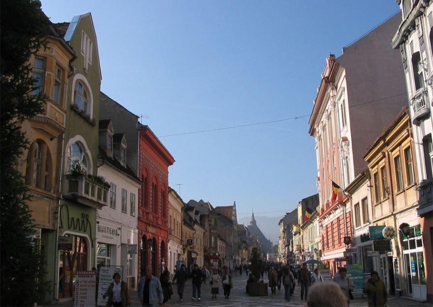 Улица город Брашов