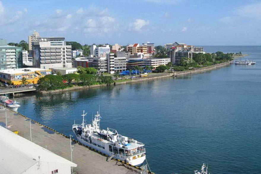 Порт города Сува Фиджи