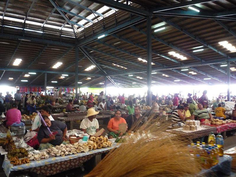 Рынок города Апиа Самоа