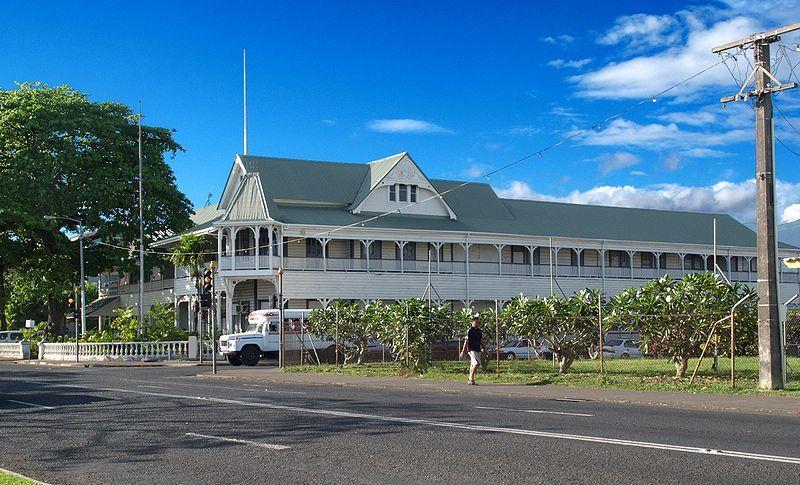 Улица города Апиа Самоа