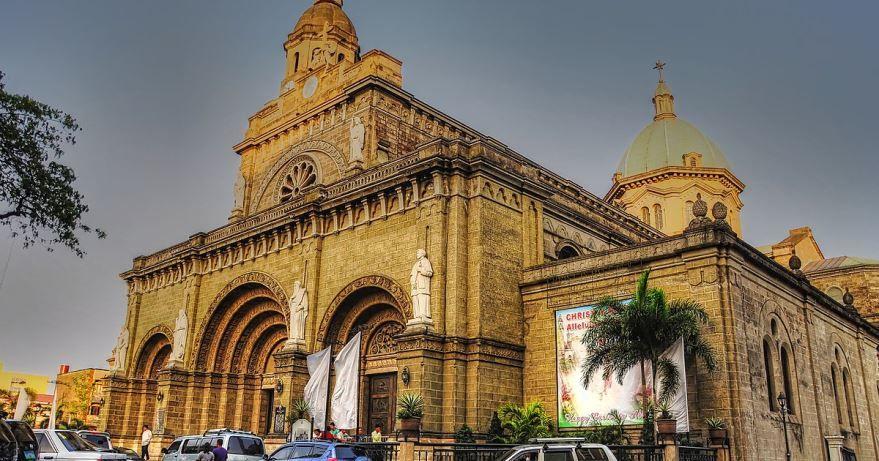 Кафедральный собор города Манила Филиппины