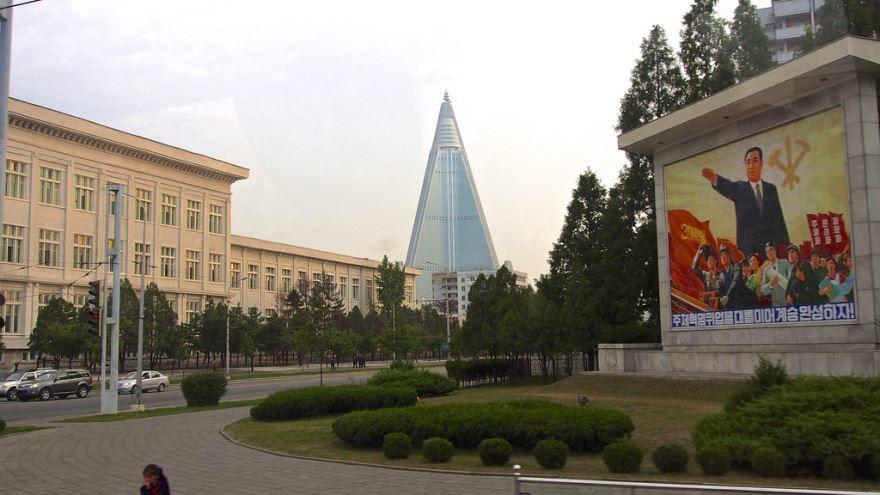 Смотреть красивое фото город Пхеньян Северная Корея