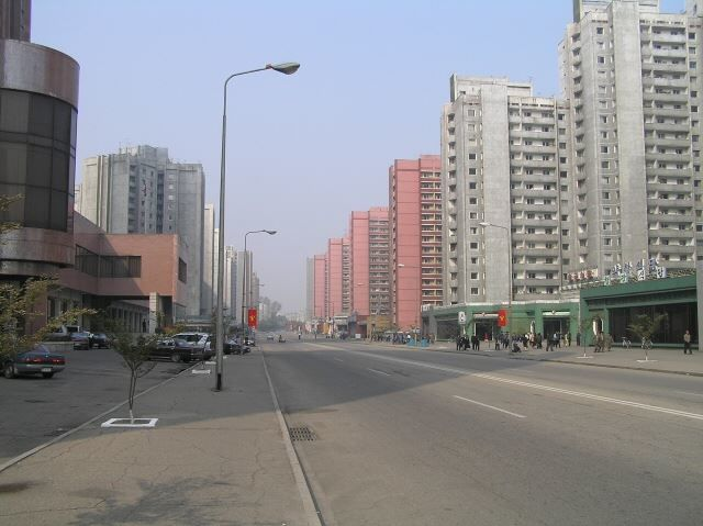 Улица город Пхеньян Северная Корея