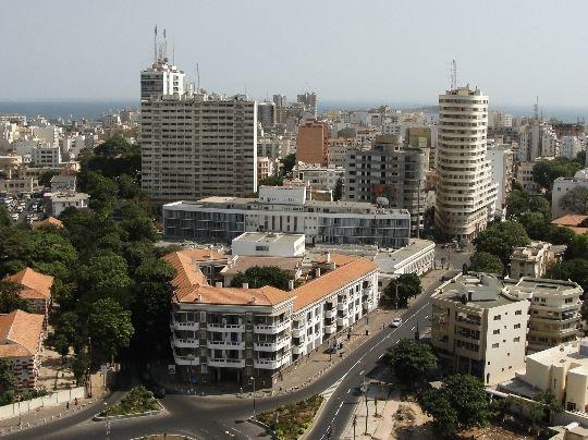 Вид на город Дакар