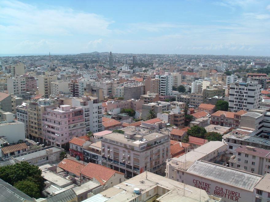 Панорама города Дакар