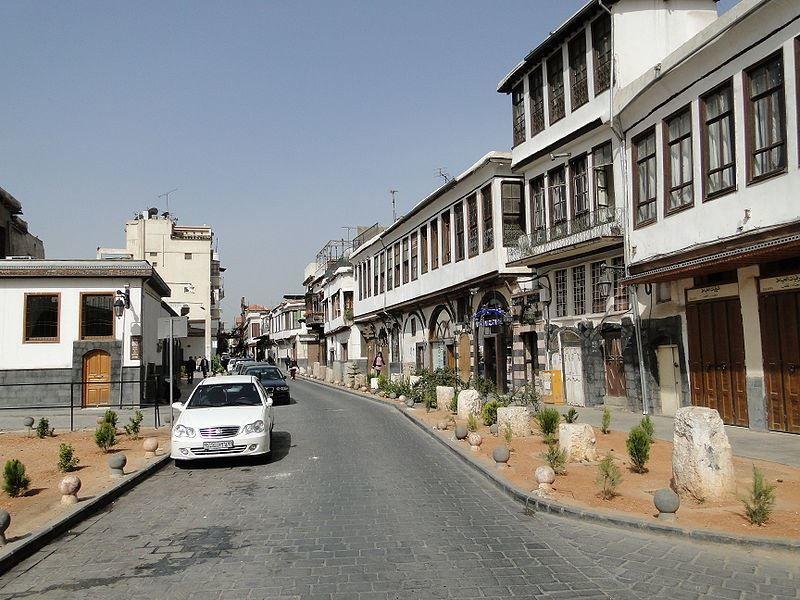 Улица город Дамаск Сирия