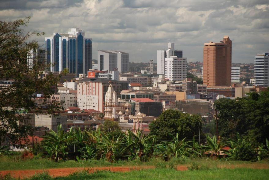 Вид на город Кампала Уганда