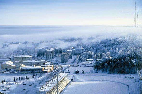 Вид на город Лахти Финляндия