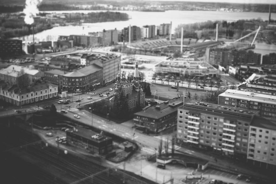 Вид на город Тампере