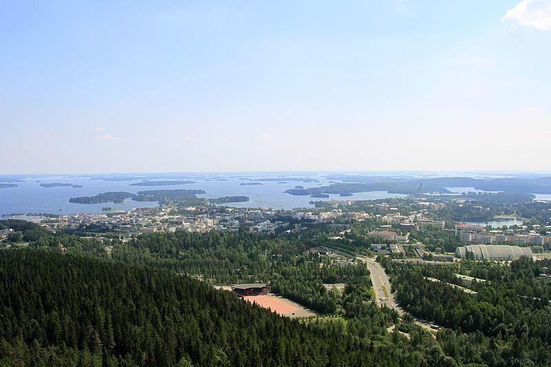 Панорама города Куопио Финляндия